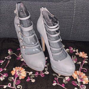 Aldo Grey Strappy Heels